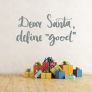 Dear Santa Wall & Window Sticker