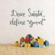 Dear Santa Wall & Window Sticker