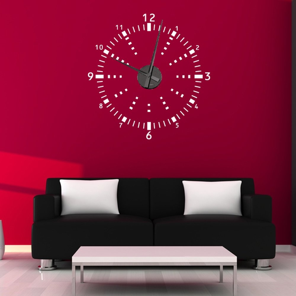 digital wall sticker clock wall clock decorative wall clock sticker decor references