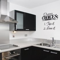 Dinner Choices Board Wall Sticker Quote