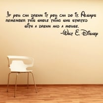 Disney Mouse Dreams Wall Sticker Quote