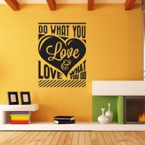 Do What You Love Wall Sticker Quote