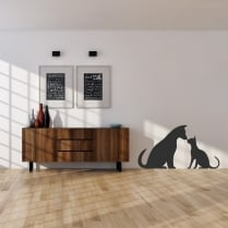 Dog & Cat Wall Sticker
