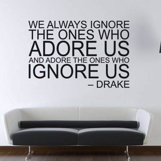 Drake Adore Us Wall Sticker Quote