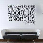 Drake Adore Us Wall Sticker Quote