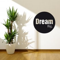 Dream Big Circle Wall Sticker Quote