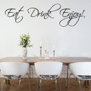 Eat, Drink, Enjoy Wall Sticker Quote