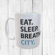 Eat, Sleep, Breathe, City Football Mug