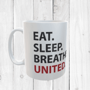 Eat, Sleep, Breathe, United Football Mug