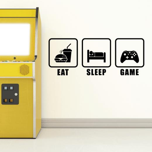 Eat, Sleep, Game Wall Sticker