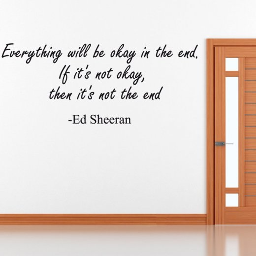 Ed Sheeran Wall Sticker Quote