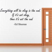 Ed Sheeran Wall Sticker Quote