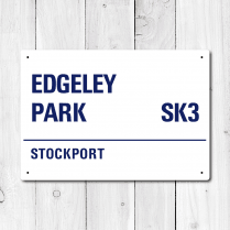 Edgeley Park, Stockport Metal Sign