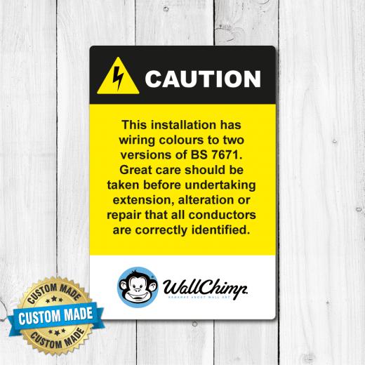 Electrical Custom Branded Caution Sticker