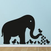 Elephant Blackboard Wall Sticker