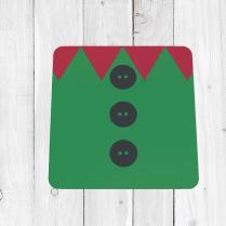 Elf Jacket Christmas Coaster