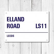Elland Road, Leeds Metal Sign