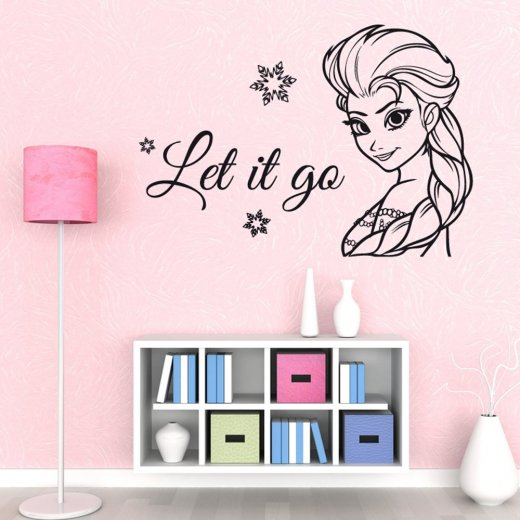 Elsa Let It Go Frozen Wall Sticker