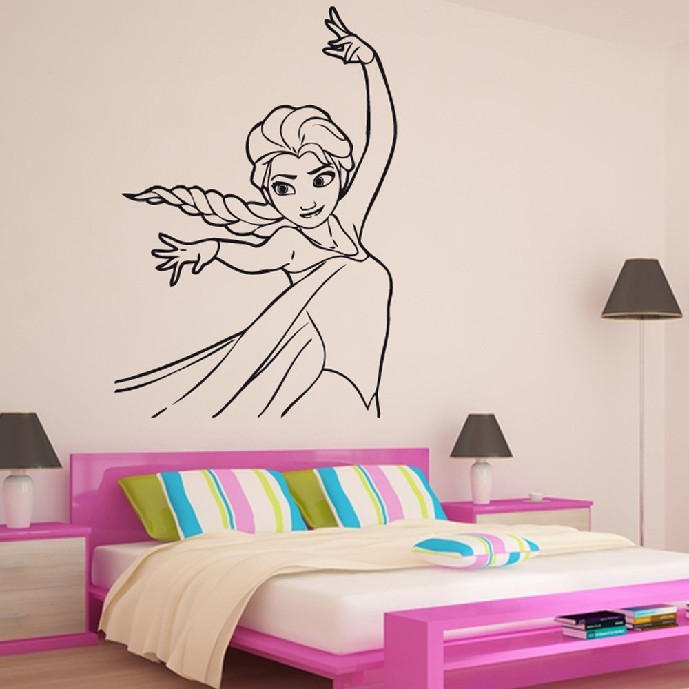 Images of elsa frozen wall stickers sc elsa snow queen frozen wall sticker from wall chimp uk amipublicfo Gallery