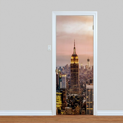 Empire State At night Door Print