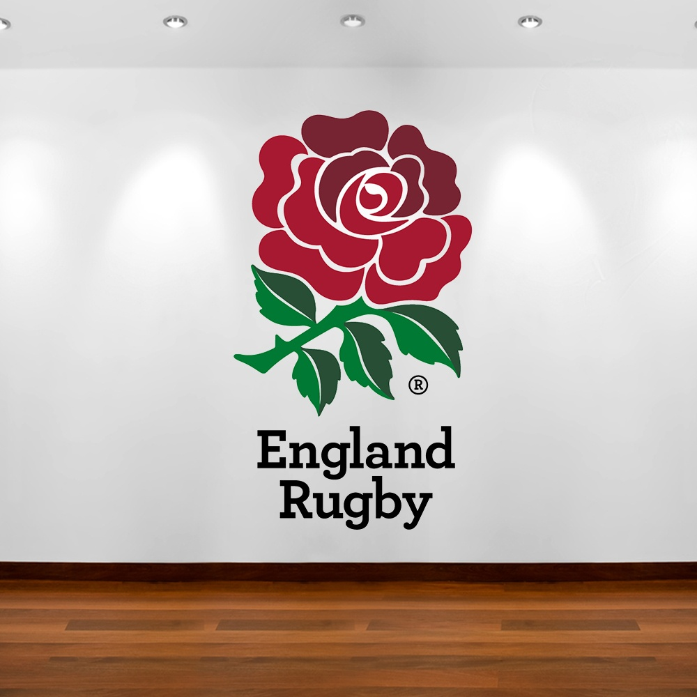 england rugby rose custom wall sticker from wall chimp uk rugby wall decal removable rugby wall sticker by eyecandysigns