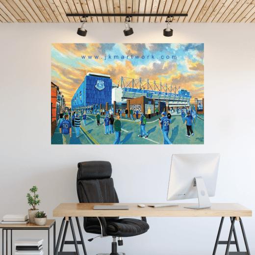 Everton, Goodison Football Ground Wall Sticker