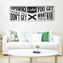 Experience Wall Sticker Quote