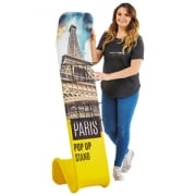 Fabric Literature Banner Stand
