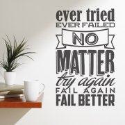 Fail Better Wall Sticker Quote