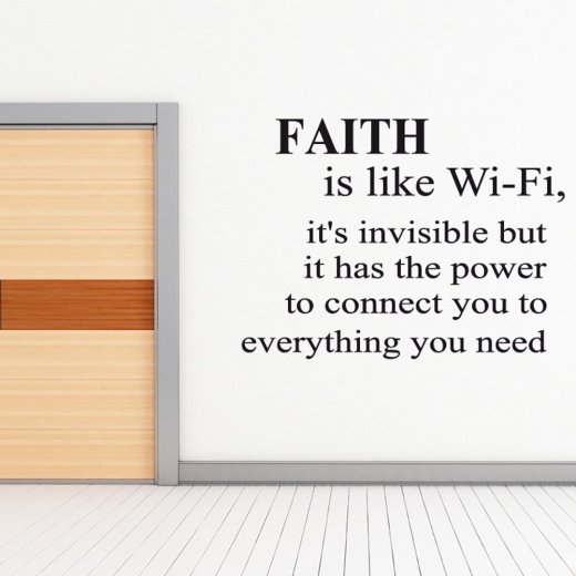 Faith Wall Sticker Quote