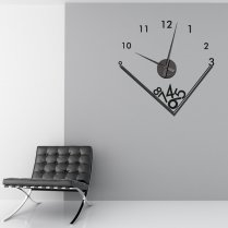 Falling Numbers Wall Sticker Clock