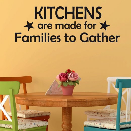Families Gather Wall Sticker Quote