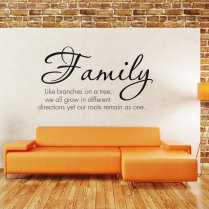 Family Branches Wall Sticker Quote