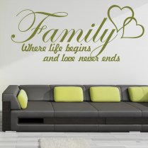 Family Life Wall Sticker Quote