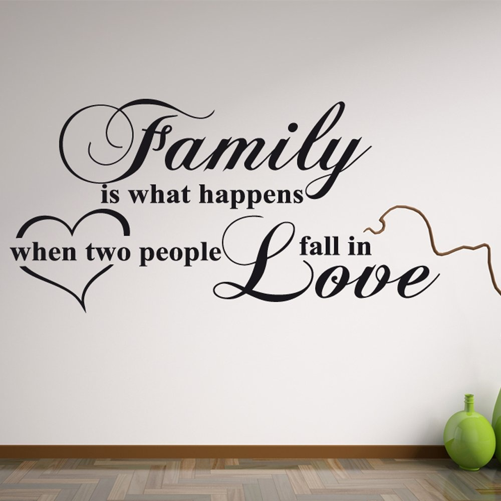 Love Wall Quotes Inspiration Family Love Wall Sticker Quote  Wall Chimp Uk.