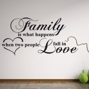 Family Love Wall Sticker Quote