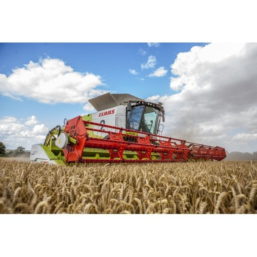 Farm Machinery Image - Featuring A Class Combine