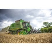 Farm Machinery Image - Featuring A John Deere Combine