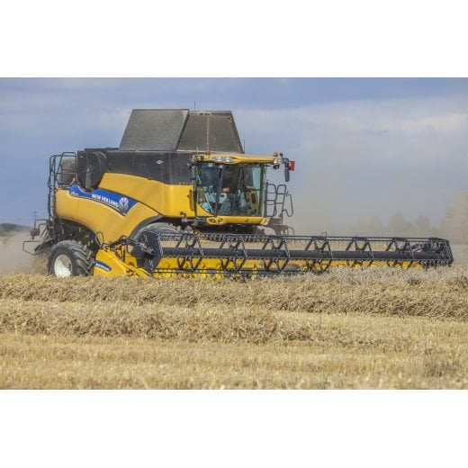Farm Machinery Image - Featuring A New Holland Combine