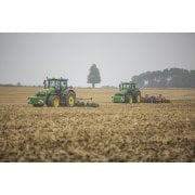Farm Machinery Image - Featuring Two John Deere Tractors