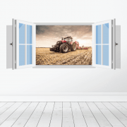 Farm Machinery Wall Sticker - Featuring Case Tractor