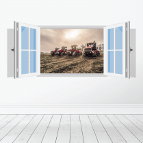 Farm Machinery Wall Sticker - Featuring Case Tractors