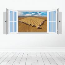Farm Machinery Wall Sticker - Featuring Massey Ferguson Combines