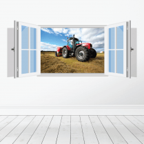 Farm Machinery Wall Sticker - Featuring Massey Ferguson Tractor