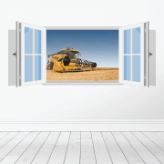 Farm Machinery Wall Sticker - Featuring New Holland Combine