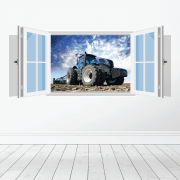 Farm Machinery Wall Sticker - Featuring New Holland Tractor
