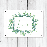 Floral Love Metal Sign