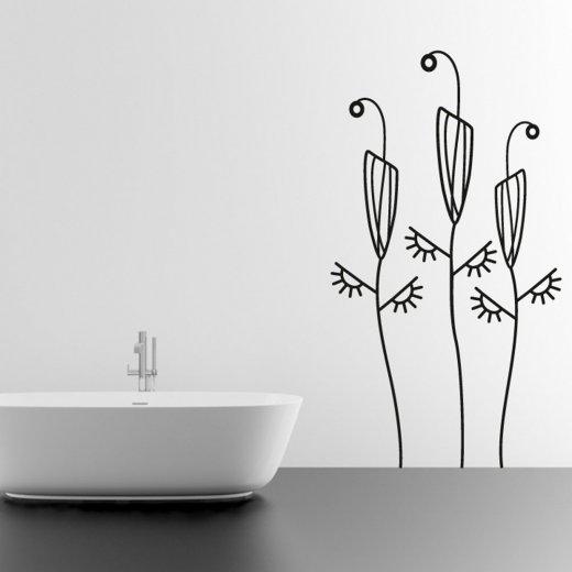 Floral Reeds Wall Sticker