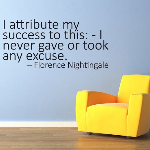 Florence Nightingale Success Wall Sticker Quote