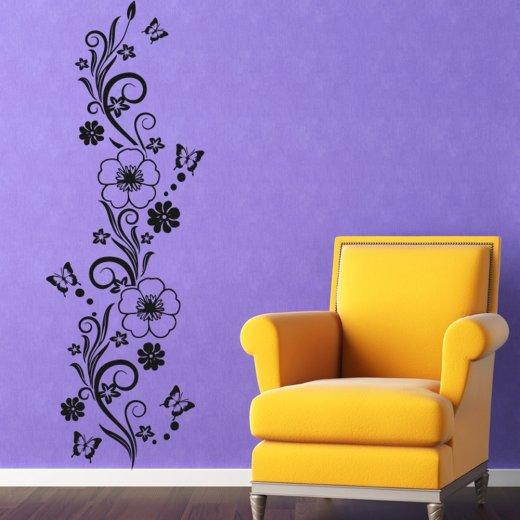 Flowers & Butterflies Wall Sticker